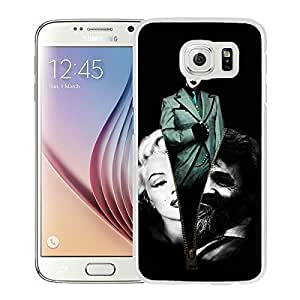marilyn manson fan art White Samsung Galaxy S6 Screen Cover Case Genuine Design High Quality