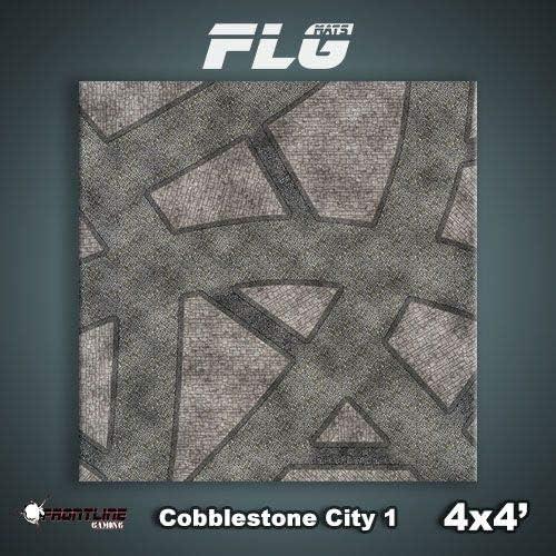 Frontline Gaming FLG Mat Cobblestone City 4x4 Neoprene Wargaming Mat