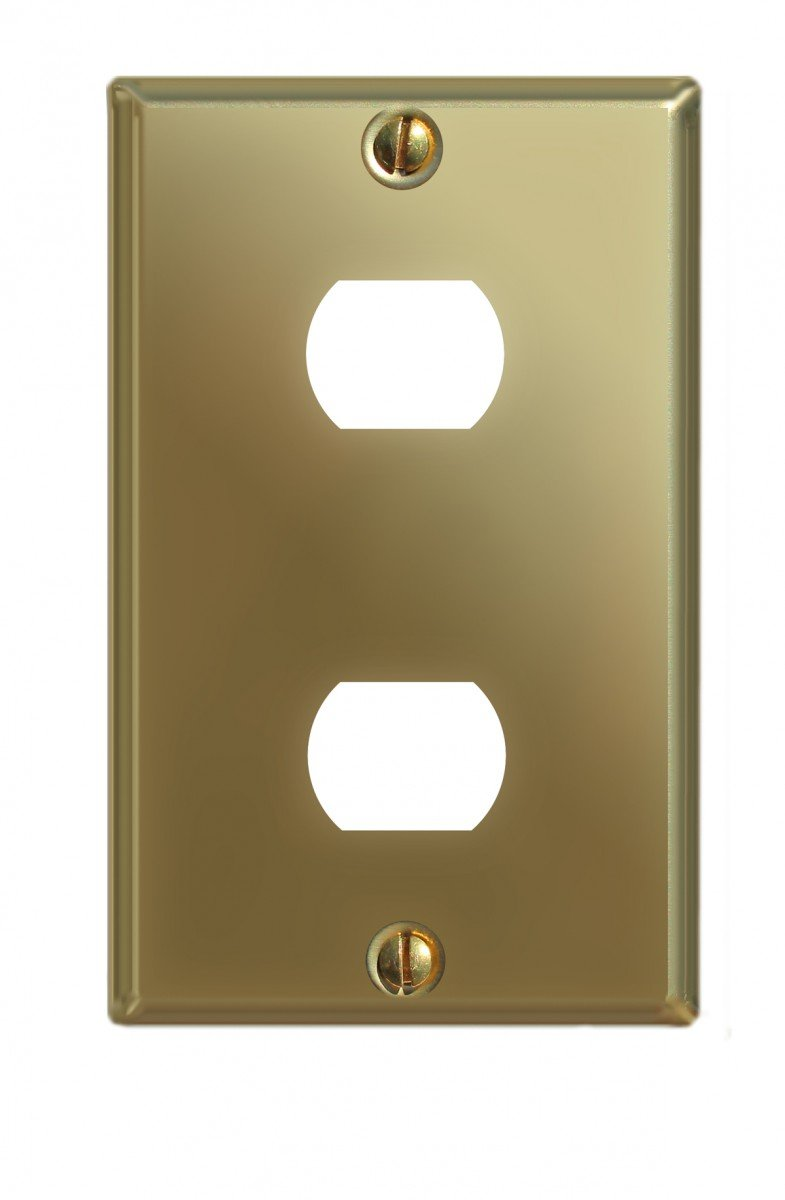 Switchplate Solid Brass Dbl Interchangeable/Despard   Renovator's Supply