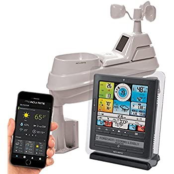 AcuRite 01036 Wireless Weather Station with Programmable Alarms, PC Connect, 5-in-1 Weather Sensor and My AcuRite Remote Monitoring Weather App