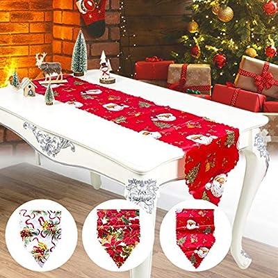 Hangarone Mesa de Navidad Bandera, Poliéster Estampado de Navidad ...