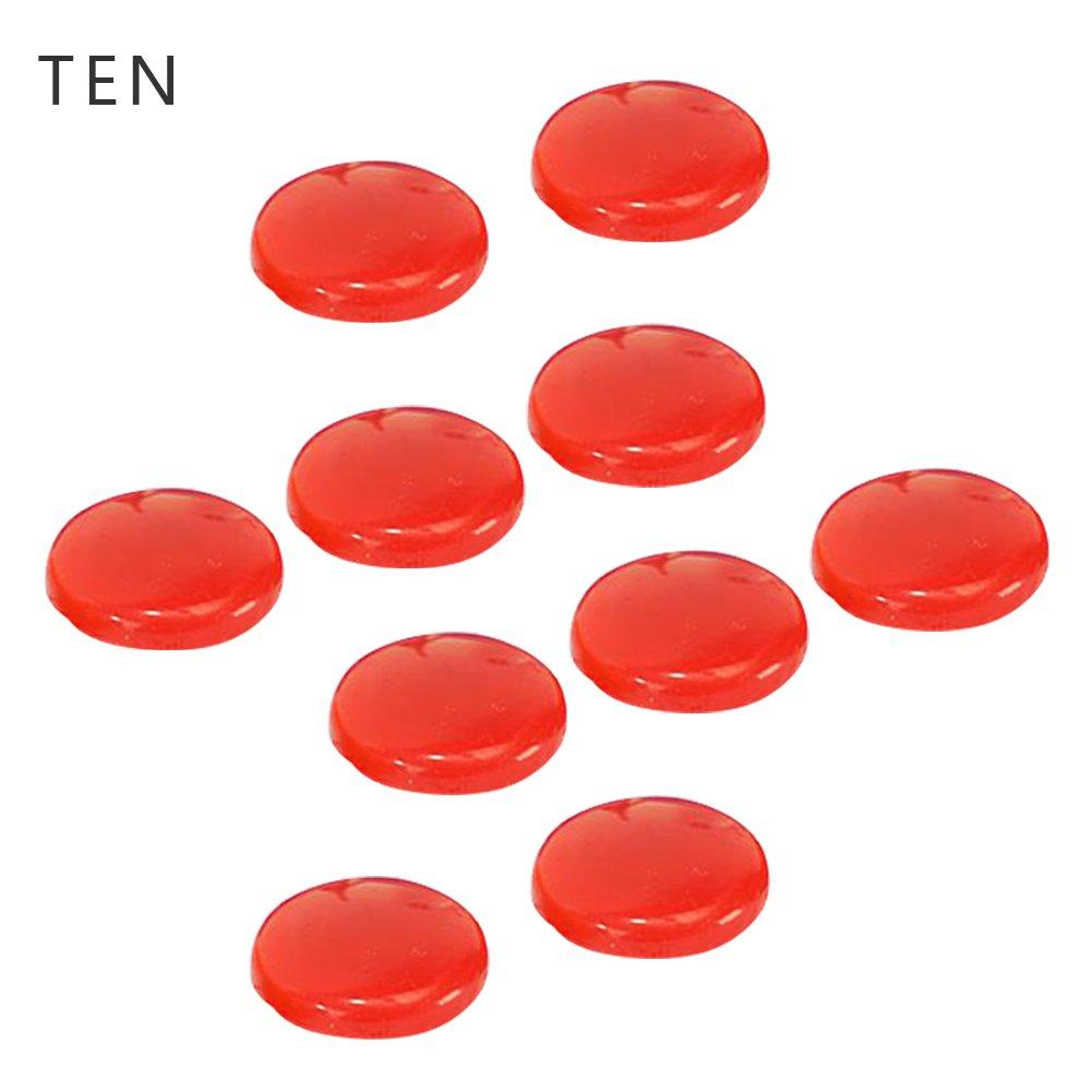 Nicky 10 Rojo Ø 30 mm Mini Imanes para Placa Magnética Pizarra ...