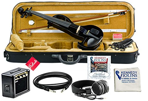 Bunnel EDGE Electric Violin Outfit Jet Black Amp Included by Kennedy Violins