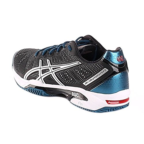 Asics Gel Solution Speed 2 Clay Onyx Silver Bleu - 42