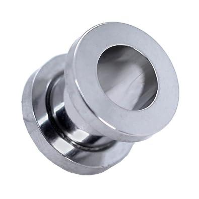 Expansor Túnel Flesh Tunnel Plug Piercing Dilatación Oreja Acero Set o Pieza 1.6 -10mm Color Plata, Farbe2:silberfarben / silver / argent - 1.6mm: ...