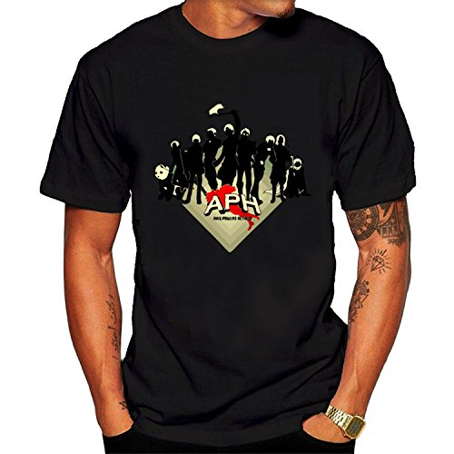 Graphic Tee Men's Short Sleeve T-Shirt Black (Football America Shoulder Pads)