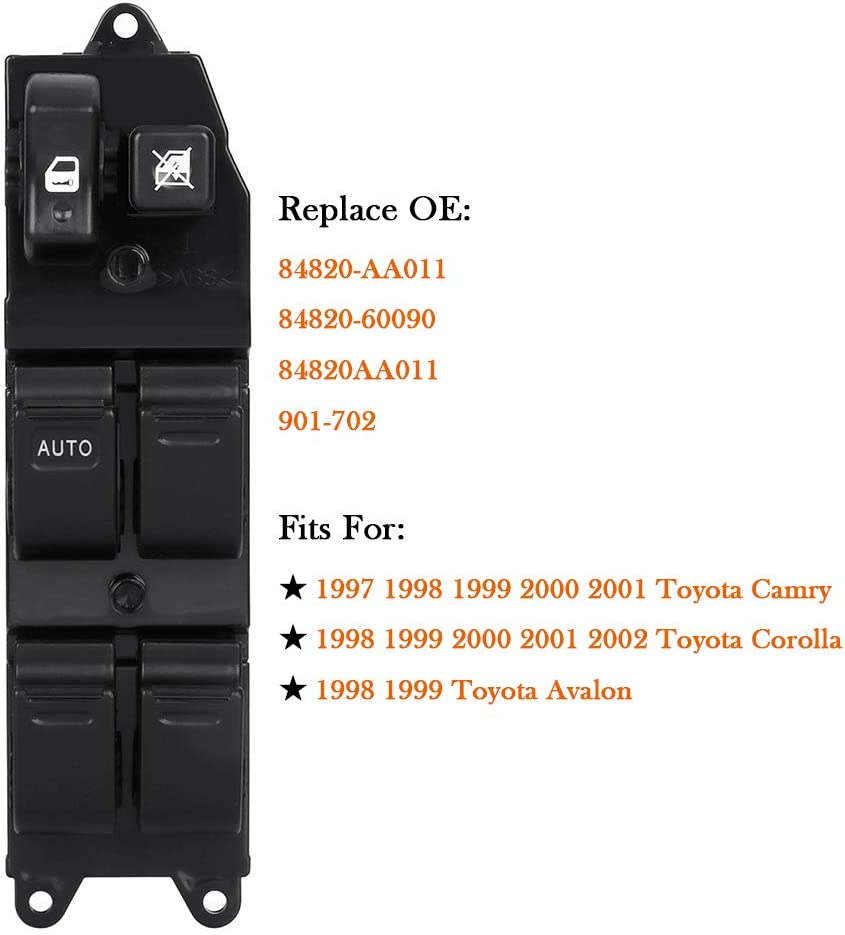 Interruptor de Control de Ventana LHD Para Toyota Corolla 1999-2000 2001