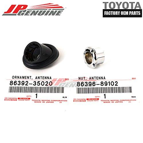 Genuine OEM Toyota 96-02 4Runner Antenna Ornament Bezel & Mounting Nut Kit