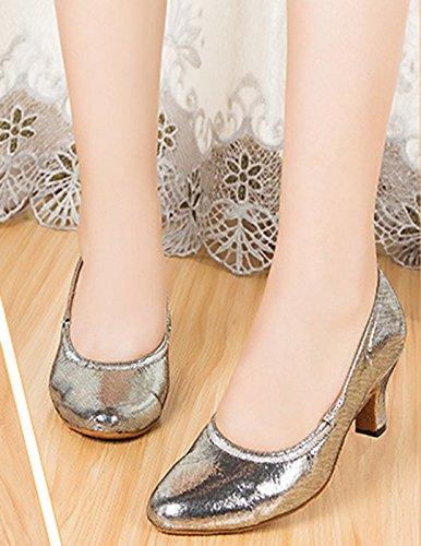 Silver con Sandalias 6cm Mujer Joymod Sintético Heel MGM de Cuña 0PRq6En4