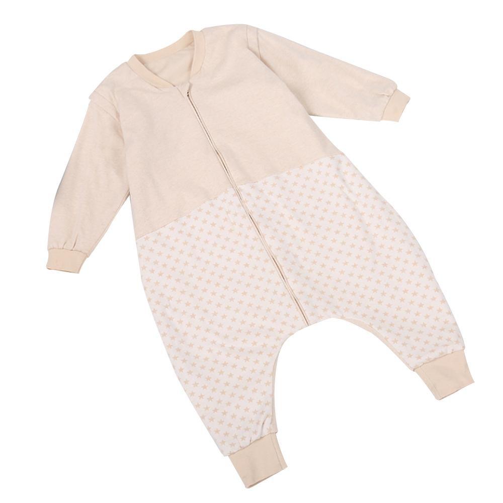 LLZJ ベビー 寝袋 スワドル ボディスーツ 新生児 サック パジャマ 通気性 脚 登山 服 ローブ 幼児 ロンパー ブランケット コットン 取り外し可能 スリーブ 80 C B07CBCN547