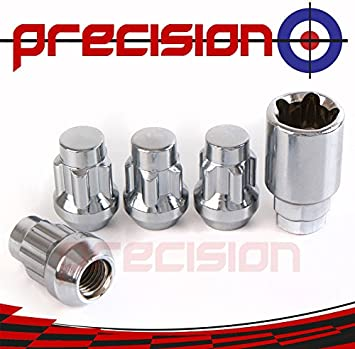 Precision 16 x Black Chrome Alloy Wheel Nuts for Ḿazda MX-5 PN.SFP-16NM10B1069