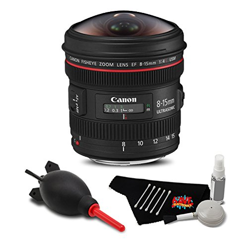 (Canon EF 8-15mm f/4L Fisheye USM Lens Accessory Bundle International Model)