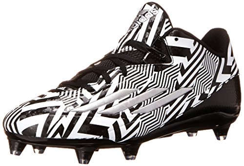 adidas Performance Men's Filthyspeed Low D Football Cleat, Black/White/Silver Metallic, 9.5 M US