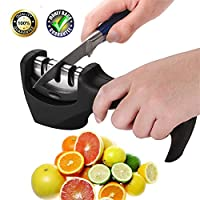 Knife Sharpener Kitchen Chef Manual Knife Sharpeners 3-Stage Dull Knife Sharpening Tool