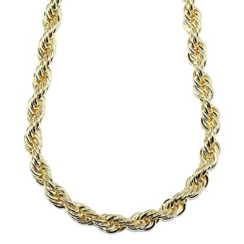 Mega Jewellery 18K Gold Plated Rope Chain 10mm X (Dookie Rope)