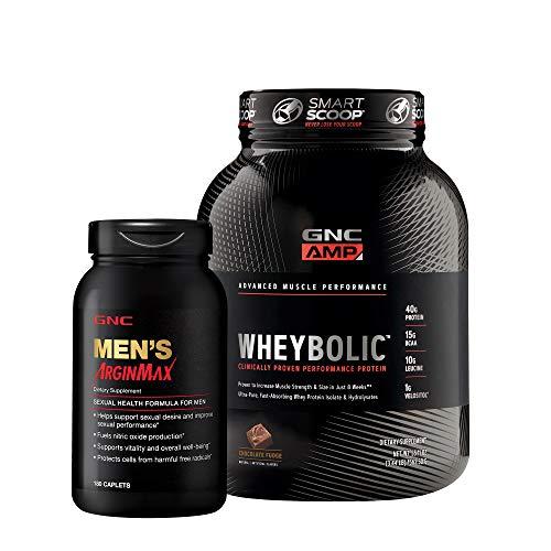 GNC Men's Protein Plus Sexual Health Bundle (Gnc Whey Protein Vs On Whey Protein)