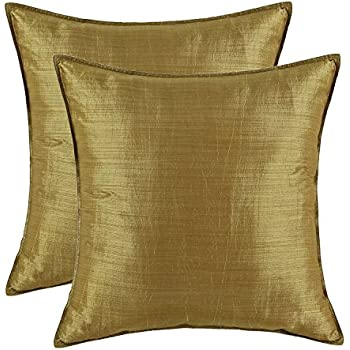 pack of 2 calitime silky throw pillow covers cases for couch sofa bed modern
