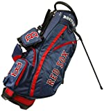 Team Golf MLB Boston Red Sox Fairway Golf Stand Bag, Lightweight, 14-way Top, Spring Action Stand, Insulated Cooler Pocket, Padded Strap, Umbrella Holder & Removable Rain Hood