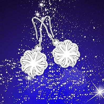 uu19ee Boucles doreilles pendantes Belle Design Femmes Boucles doreilles Boucles doreilles en forme de feuilles ondul/ées