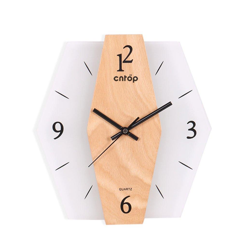 10インチの壁時計牧歌的なミニマリストの寝室のリビングルームの装飾30 Cm * 28 Cm (色 : A) B07CSV2PHMA