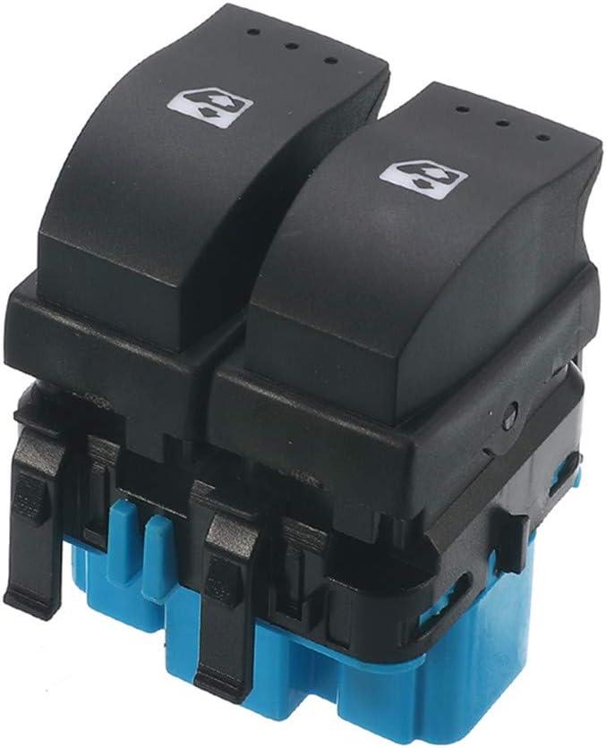 SpeeVech Bot/ón de interruptor de controles de ventana el/éctricos universales de 10 pines azul