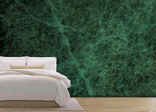 wall26 - Green Marble Texture Background High Res - Removable Wall Mural | Self-adhesive Large Wallpaper - 100x144 inches