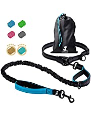 SparklyPets Hands-Free Dog Leash for Medium and Large Dogs – Professional Harness with Reflective Stitches for Training, Walking, Jogging and Running Your Pet (Blue, for 1 Dog)