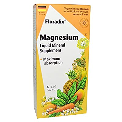 Flora Floradix Magnesium Liquid Mineral Supplement -- 17 fl oz