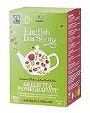 Cheap English Tea Shop Green Tea Pomegranate Fairtrade & Organic, 20 Sachet Tea Bags