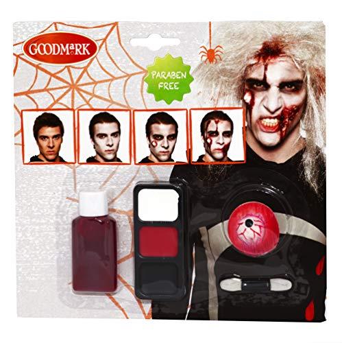 Goodmark Zombie Make-Up Set 3 Packs of 8 Items -