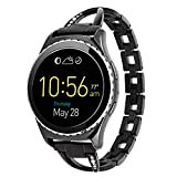 Lwsengme 20mm Watch Band Quick Release Stainless Steel Bracelet Watch Band Strap for Men's Women's Watch,Samsung Gear S2 Classic Smart Watch Fitness(20mm-Black-02)