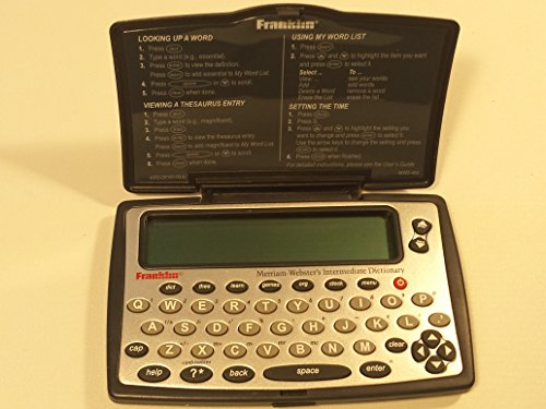 Franklin MWD-460A Merriam-Webster Dictionary and Thesaurus (Franklin Electronics)