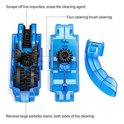 Bicycle Scrubber,BeiLan Bike Chain Cleaner Bicycle Chain Cleaning Brush Tool (3 Pieces) Multi-purpose for Cycling Bikes Road Bikes Mountain Bikes MTB (Scrubber&Brushes) by BeiLan (Image #1)