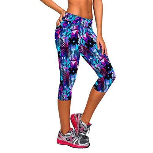 (Barry Picks Women Print Black Pants Capris Women Leggins Female Pants Mid Calf Legging,Large,Catch)