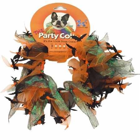 Halloween Party Collar Spider Bats Medium (12