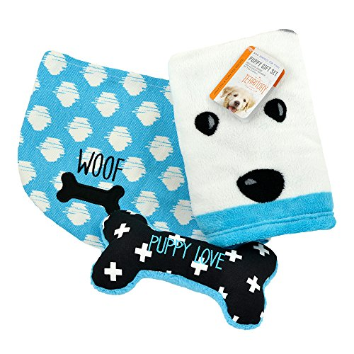 Territory Puppy Love Gift Set with Fleece Blanket Bone Toy and Canvas Storage Bin by Territory (Image #6)