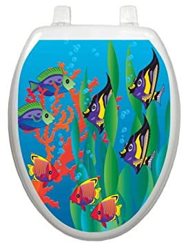Toilet Tattoos TT-1800-O Under the Sea Design Elongated