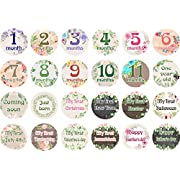 Baby Monthly Stickers First Year Baby Great Shower Gift Flower Milestone Belly Stickers for Boys Girls
