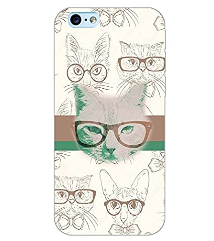 PrintDhaba SPECS CAT D-6179 Back Case Cover for APPLE