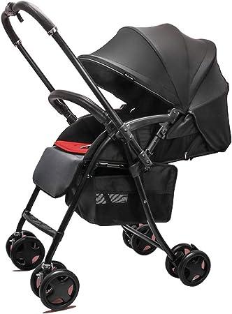 Opinión sobre Cochecito de bebé ligero bidireccional, ajuste de múltiples etapas, puede sentarse y acostarse, puede soportar 25 kg de peso, amortiguador de cuatro ruedas, plegable y retráctil con una mano