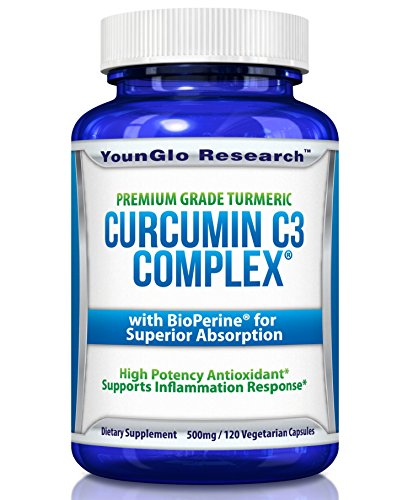 Curcumin C3 Complex with BioPerine - Powerful Health Benefits - Non-GMO Vegetarian Tumeric Capsules (1 Pack) (Dr Best Curcumin C3 Complex)