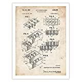"""LEGO POSTER Toy Blocks 1961 Patent Art Print 18 x 24"""" by Steves Poster Store"""