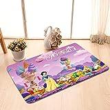 Entry Door Entry Foot Cartoon Snow White Slip mat Bathroom Floor mat Bedroom Living Room (Color : Purple, Size : 40 * 60cm)