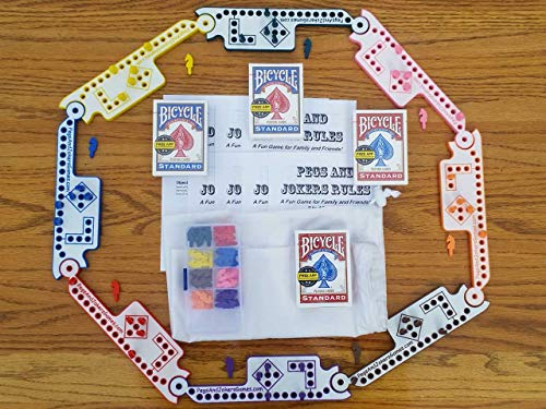 Pegs and Jokers Travel Size Compact Game Set (2-8 Players) (The Game Marble)
