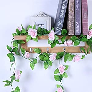 Artificial Dried Flowers - 2 3m Silk Rose Flower With Ivy Vine Artificial Flowers Decoration Decorative Garland - Yellower Garlands Bunt Vine Ivy Wisterias Leaves Roses String Anthuriums 105