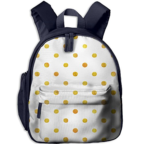SarahKen Blurry Crystalised Golden Ombre Geometric Circles Rounds Plain Backdrop Children School Bag Backpack Navy 12.5
