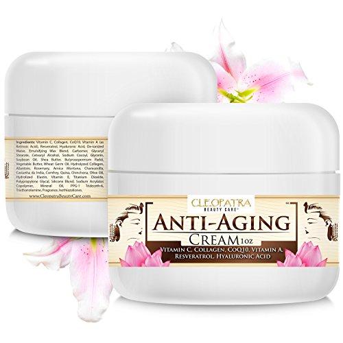 Anti Aging Cream - la formule la mieux acide hyaluronique + vitamine C + + collagène resvératrol hydratant. Luxe Anti Aging Crème contour des yeux avec Rétinol vise également les mains, visage et cou. Soins de la peau haut de gamme anti rides pour les fem