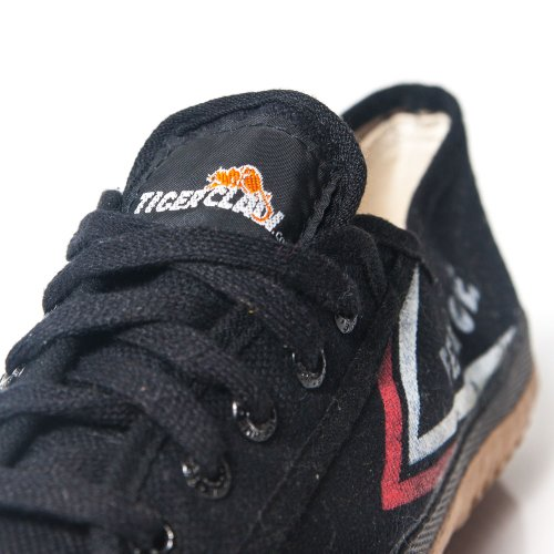 Tiger Claw Compatible with Feiyue Martial Arts Shoes - Black - Size 43
