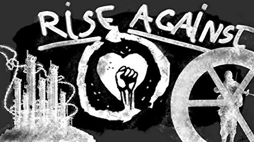 (Rise Against American melodic hardcore music band Tim McIlrath Zach Blair Joe Principe Brandon Barnes Dan Wlekinski Kevin White Todd Mohney Chris Chasse Toni Tintari 12 x 18 inch Poster)