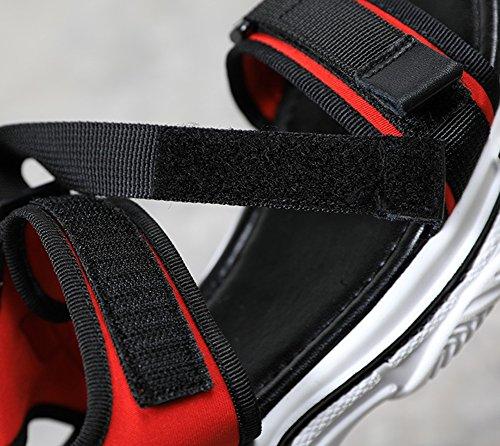Indossare Rosso Deodorante Slittata All'aperto Spesso Scarpa Donna Fondo Sandali Estiva Velcro Nvxie Stagione zq8078